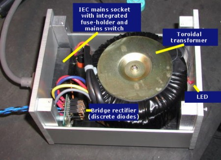 A typical chip amp powersupply.
