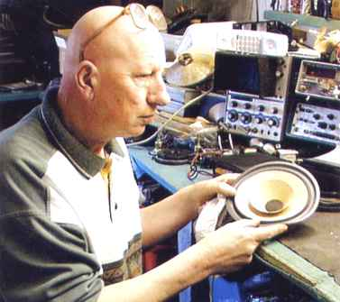 Dave Smith - one of the few people repairing speaker drive units in the UK